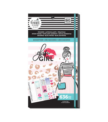 The Happy Planner Girls Accessory Book-Glam Girl