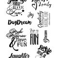 Debbi Moore Life Quotes A5 Stamp Sheet-Inspiration 27
