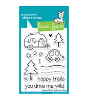 "Lawn Fawn Clear Stamps 3""X4""-Happy Trails, , hi-res"
