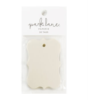 Park Lane Paperie 30 pk Small Cartouche Tags-Ivory
