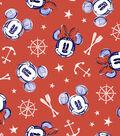 Disney Mickey & Minnie Mouse Cotton Fabric 44\u0027\u0027-Nautical Aye Aye