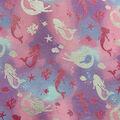 Metallic Flannel Fabric-Mermaid Silver Metallic
