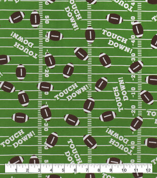 Snuggle Flannel Fabric-Touchdown Footballs