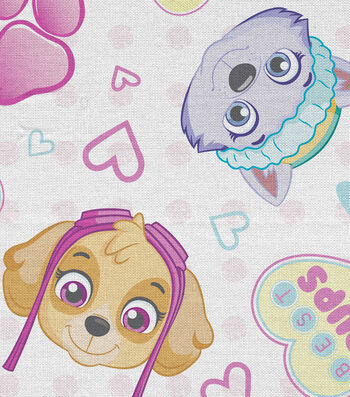 """Nickelodeon Paw Patrol Flannel Fabric 43""""-Pawfect Friends"""