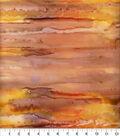 Batik Cotton Fabric-Batik Yellow Orange Stripe Salt