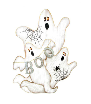 Maker's Halloween Boo 3 Ghost Porch Sitter