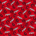 Cleveland Indians Flannel Fabric-Tie Dye