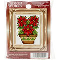 Design Works Poinsettias Ornament Counted Cross Stitch Kit