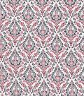 Vintage Cotton Fabric 43\u0027\u0027-Damask Herringbone