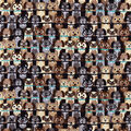 Snuggle Flannel Fabric-Stacked Dogs with Blue Collar