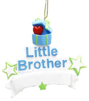 Handmade Holiday Christmas Ornament-Little Brother