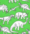 Snuggle Flannel Fabric 42\u0027\u0027-Dino Sketch on Green