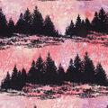 Anti-Pill Plush Fleece Fabric-Forest Galaxy Coral