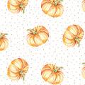 Simply Autumn 60\u0027\u0027 Round Tablecloth-Pumpkins & Dots