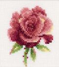 Red Rose Counted Cross Stitch Kit-4\u0022X4\u0022 14 Count