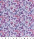 Keepsake Calico Cotton Fabric-Butterflies Glitter Purple