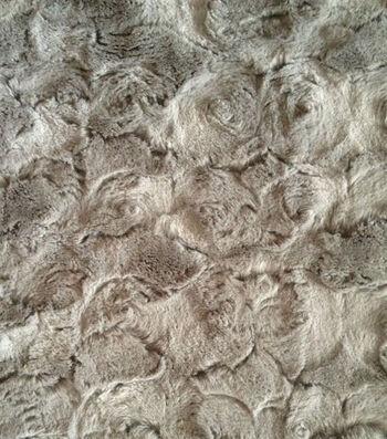 Faux Fur Fabric -Large Paloma Swirl