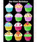 Novelty Cotton Fabric Panel-Class Birthdays