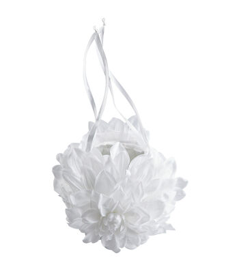 """Wilton 3""""X5"""" Gardenia??Wedding Flower Basket-White"""