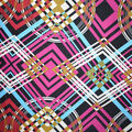 Fast Fashion Knit Fabric-Spice Abstract Diamond