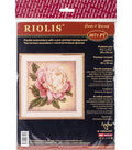 RIOLIS Create it Yourself 7.75\u0027\u0027x7.75\u0027\u0027 Stamped Cross Stitch Kit-Peony