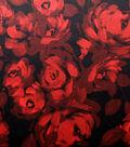 Satin Fabric 57\u0022-Watercolor Rose Tango Red