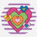 Bucilla My 1st Mini Counted Cross Stitch Kit Heart