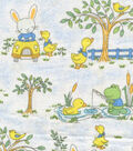 Nursery Cotton Fabric 44\u0022-Driving Bunny