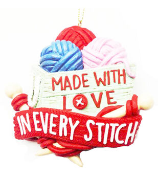 Handmade Holiday Christmas Ornament-Made with Love in Every Stitch