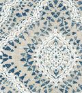 Waverly Upholstery Fabric-Curves Ahead Indigo