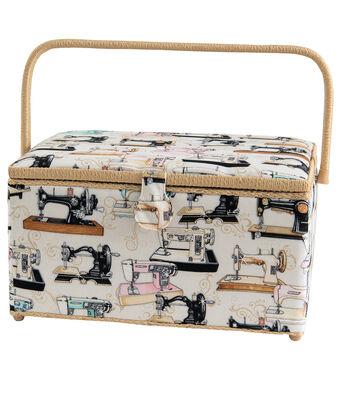 Sewing Basket XL Rectangle-Sew Mach Cream
