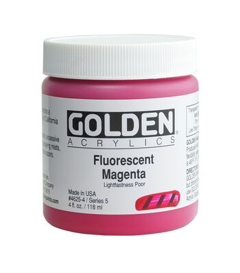 Golden Fluorescent Acrylic Paint 4oz.