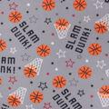 Blizzard Fleece Fabric-Basketball Words