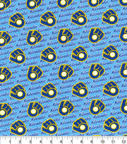 Milwaukee Brewers Cotton Fabric-70s Cooperstown, , hi-res