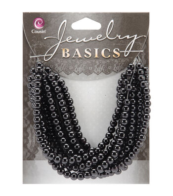 Jewelry Basics 4mm Round Opaque Beads 300/Pkg-Black