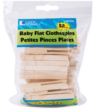 """Loew-Cornell 2-1/2"""" Baby Flat Clothes Pins-50PK"""