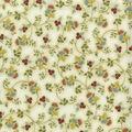 Premium Quilt Cotton Fabric-Delicate Flowers Cream Metallic
