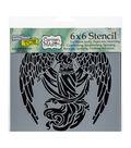 The Crafter\u0027s Workshop Carmen Medlin 6\u0027\u0027x6\u0027\u0027 Stencil-Prayerful Angel