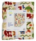 No-Sew Throw Fleece Fabric 48\u0022-Abc Multi