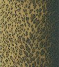 Leopard Dark Brown Animal Print Wallpaper Sample