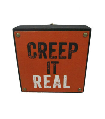 Maker's Halloween Word Block-Creep it Real