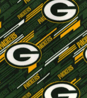 """Green Bay Packers Fleece Fabric 58""""-Diagonal"""