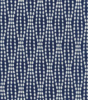 "Waverly Upholstery Fabric 54""-Strands Navy"