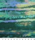 Anti-Pill Fleece Fabric -Blue & Green Water