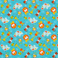 Super Snuggle Flannel Fabric-Happy Animals Tossed