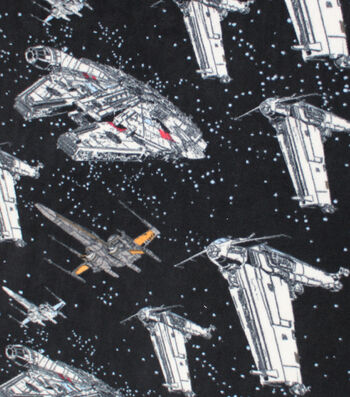Star Wars: The Last Jedi Fleece Fabric -Ships