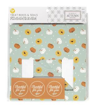 Wilton Simply Autumn Treat Boxes-Toss Pmpkin