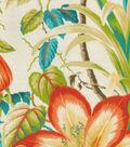 Tommy Bahama Outdoor Fabric 13x13\u0022 Swatch- Botanical Glow Tiger Lily