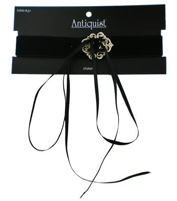 hildie & jo Antiquist Gold Soft Choker-Black
