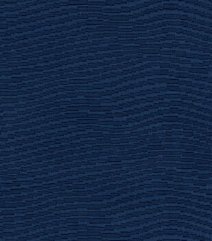 """Waverly Upholstery Fabric 59""""-Waving About Navy"""